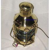 **Massive große Schiffslampe - Messing H 39 cm- elektrisch