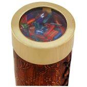 Kaleidoskop Messing mit Lederummantelung 17 cm