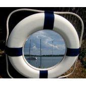 **GROSSER Rettungsring mit Spiegel 50 cm- BLAU/WEISS