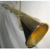 **Nebelhorn Fußballtröte Signalhorn- Messing- Mundstück versilbert- 23 cm
