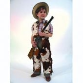 Cowboy Anzug- Kostüm - Kinderkostüm mit Kuhflecken Buffalo