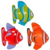 3 Stück im Set Fische aufblasbar - ca. 20 cm