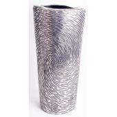 Design Vase mit Kreismuster aus Keramik, 40,5 x 20,5 x 10,5 cm