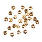 Quetschperlen, 2 mm gold