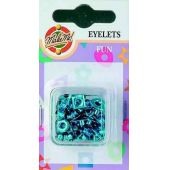 Eyelet Fun-Figuren metallic hellblau 3MM