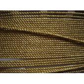Acetat-Kordel  2mm gold glänzend