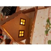 """Explosionsbox """"Winterlandschaft mit beleuchtetem Haus"""""""