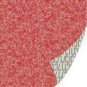 Dessinpapier Glitter KK perpermint swirl 30,5X30,5 cm