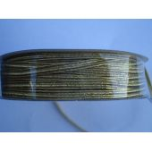 Gummi-Kordel  3 mm gold