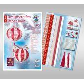 Designstreifen Paper Balls Set Scandinavian Christmas