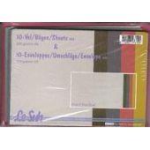 10 metallic Karten und Umschläge