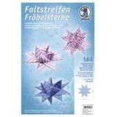 Faltpapierstreifen für Fröbelsterne pink/blau/weiß in 2 Größen