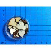 Holz Kleinteile gelasert kleine Herzen ca. 25 Stück