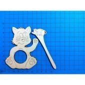 Schalhalter Katze 13 cm und 9 cm