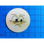 Holzknopf Gesicht Design 4