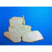 Holz Raupenfahrzeug 30mm - 200mm