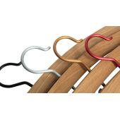 hannah, ein Kleiderbügel aus Holz, Eiche und anna-Haken
