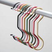 anna, siamesischer Kleiderhaken aus Aluminium
