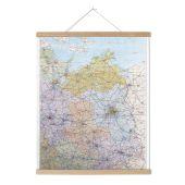 Posterleiste für Landkarten aus Esche