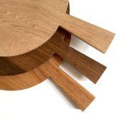 Rundes Holzbrett mit Griff für Kuchen, Wähen oder Vesper