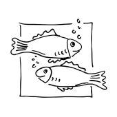 """Stempel """"Fische"""""""