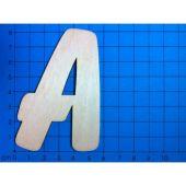 ABC Holzbuchstaben natur  Kleinteile gelasert 80mm