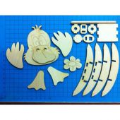 Entenkopf 9cm/Füße/BLH5804/FSH3612/DAH0712/Rundstab