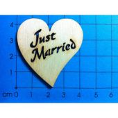 "Herz ""Just Married"" ausgeschnitten 40mm"