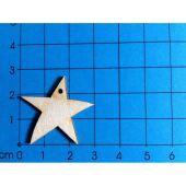 Holz Kleinteile Stern mit 1 Loch 30 mm und 40 mm