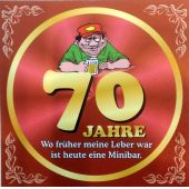 Flaschenetikett Bier 70.Geburtstag Jubiläum Geschenkidee Präsent