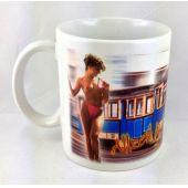 Tasse Straßenbahn Kaffeebecher mit Spruch