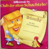 Willkommen im Club alten Schachteln Party Geburtstag Urkunde