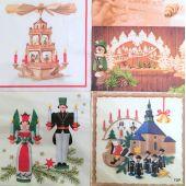 20 Servietten 61030 Weihnachten 33x33 cm Home Fashion 4 Motiven
