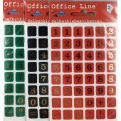 Zahlen Etiketten goldene Schriftfarbe 8 mm  Selbstklebend