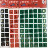Buchstabenetiketten A-Z Schriftgröße 8 mm Klebesticker