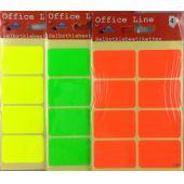 Selbstklebeetiketten 3,8x2,5 cm Markieretiketten farbige