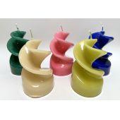 gedrehte Stumpenkerzen Kerzen viele Farben lakiert  TOP Preis