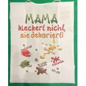 XL Latz Mama kleckert nicht, sie dekoriert Lätzchen Erwachsene