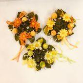 Deko Kerzenring Magaritte marmorierten Eier Blumen Kunststoff
