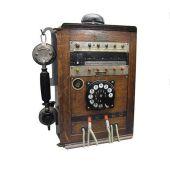 Telefonstation Holz Ladestation Regal zum Laden von Handy Smartphone MP3-Player