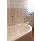 Euroshowers Duschvorhang 3D Kreise transparent waschbar zuschneidbar 180x200 cm