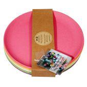 Teller Rainbow Set 6 Stück Kuchenteller 6-teilig Frühstücksteller umweltfreundlich 100 % Bio Kinderg