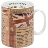 Becher Englisch Kurs Wissensbecher Kaffeetasse Tasse Themen-Becher Kaffee Tee Porzellan