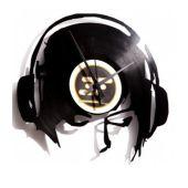 Wanduhr Schallplatte DJane@Work DJ DJane Dekoration Uhr Vinyl Platte Retro Deko LP Langspielplatte