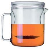 """Teekanne """"Zeit für mich"""" 1,5 Liter Glas Kanne Kaffeekanne Teebereiter Teesieb Teefilter Teezubereite"""