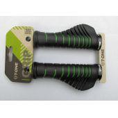 Fahrrad-Griffe T-One Grip Green Aero Ergonomische Schraubgriffe Fahrradgriffe Grün