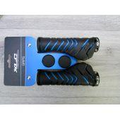 Fahrradgriffe Ergonomisch Schraubgriffe Ergo130mm Schwarz Blau