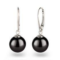 925 Silber Ohrringe mit großen runden Perlen Farbwahl