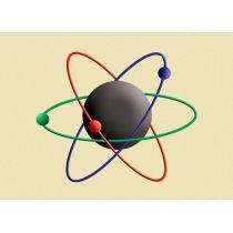 Effekt-Postkarte Wackelbild Atommodell