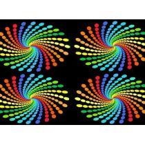 Postkarte mit 3D Effekt: Farbspiralen